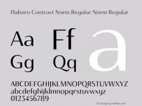 Haboro Contrast Norm Regular
