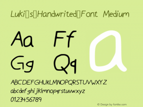 Luki_s_Handwrited_Font