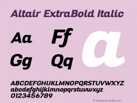 Altair ExtraBold