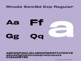 Rhode SemBd Exp