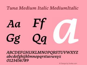 Tuna Medium Italic