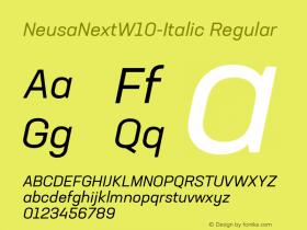 NeusaNext-Italic