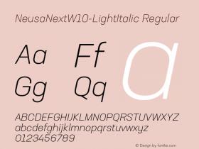 NeusaNext-LightItalic