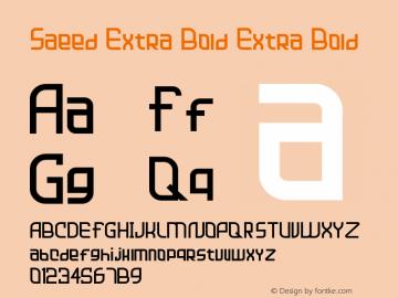 Saeed Extra Bold