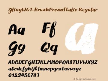 Gliny-BrushPressItalic