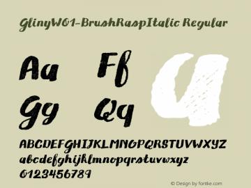 Gliny-BrushRaspItalic