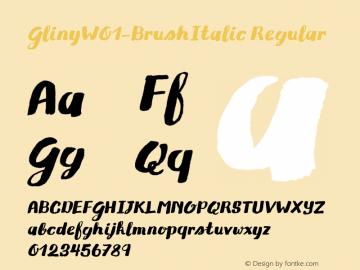 Gliny-BrushItalic