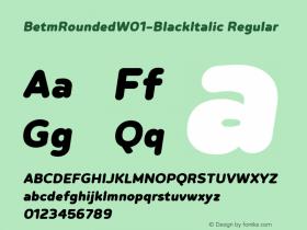 BetmRounded-BlackItalic