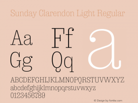 Sunday Clarendon Light
