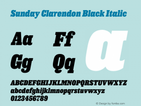 Sunday Clarendon Black