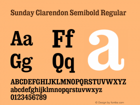 Sunday Clarendon Semibold