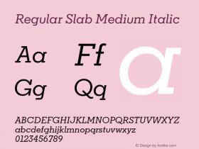 Regular Slab Medium