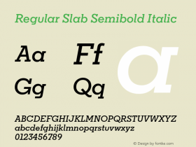 Regular Slab Semibold
