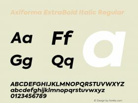 Axiforma ExtraBold Italic
