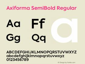 Axiforma SemiBold