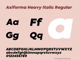 Axiforma Heavy Italic