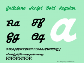 Gritstone Script Bold