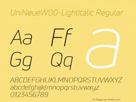 UniNeue-LightItalic