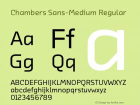 Chambers Sans-Medium
