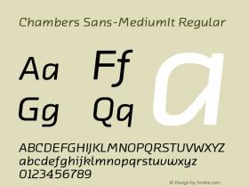 Chambers Sans-MediumIt