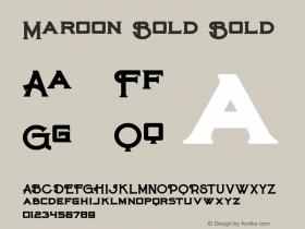 Maroon Bold