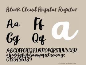 Black Cloud Regular