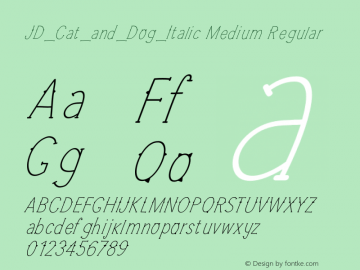JD_Cat_and_Dog_Italic Medium