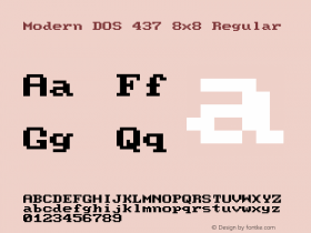 Modern DOS 437 8x8