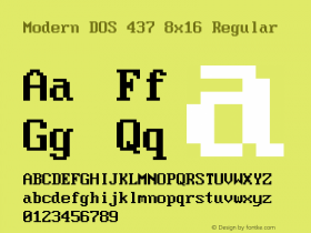 Modern DOS 437 8x16