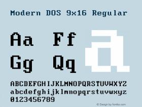 Modern DOS 9x16