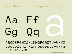 ATC Harris Code Regular