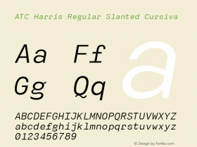 ATC Harris Regular Slanted