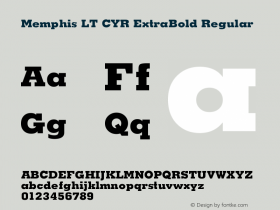 Memphis LT CYR ExtraBold