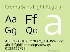 Croma Sans Light