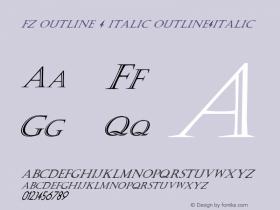 FZ OUTLINE 4 ITALIC