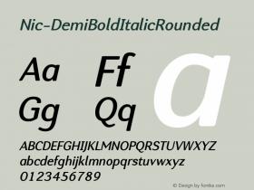 Nic-DemiBoldItalicRounded