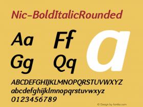 Nic-BoldItalicRounded