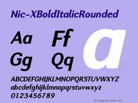 Nic-XBoldItalicRounded
