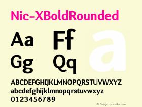 Nic-XBoldRounded
