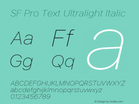 SF Pro Text