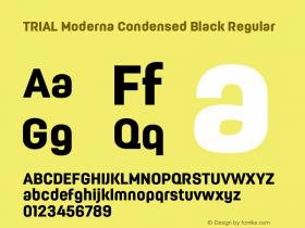 Moderna Condensed Black