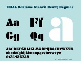 Reklame Stencil Heavy