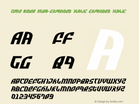 Zone Rider Xtra-Expanded Italic