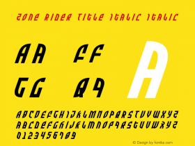 Zone Rider Title Italic
