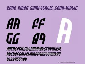 Zone Rider Semi-Italic