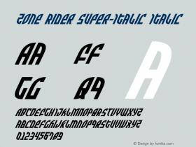 Zone Rider Super-Italic