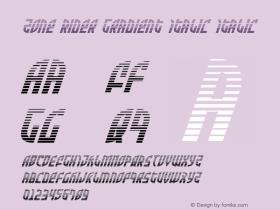 Zone Rider Gradient Italic