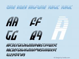 Zone Rider Halftone Italic