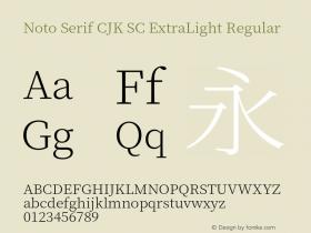 Noto Serif CJK SC ExtraLight