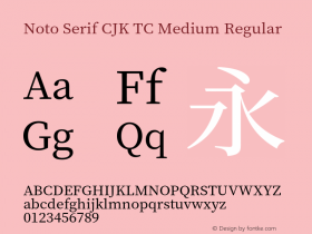 Noto Serif CJK TC Medium